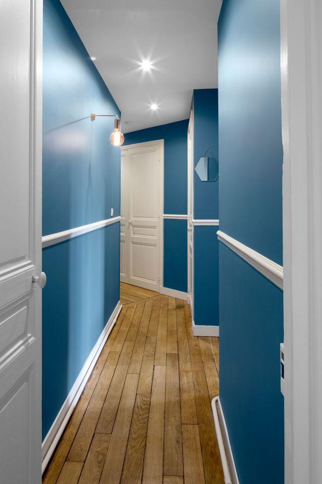 Pingl sur id es peinture pi ce de vie - Couleur de peinture pour couloir ...