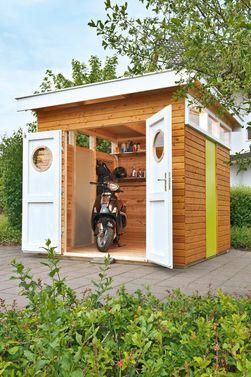 fahrradschuppen pinterest gartenhaus bauen. Black Bedroom Furniture Sets. Home Design Ideas