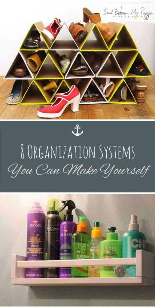 8 Organization Systems You Can Make Yourself Diy Home Ideas For The