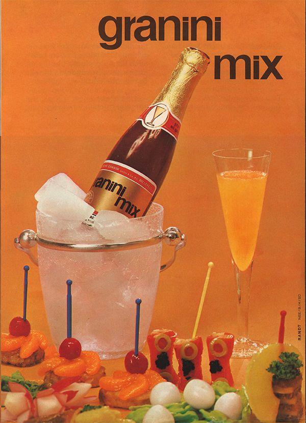 1970 | granini zum Aperitiv –   Fast vergessene Anzeigen-Perle aus unserem Archiv: der in den 70ern eingeführte granini Mix!