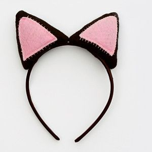 Kitty Cat Headband -  Turn your little girl into a little feline with just a few materials. This Kitty Cat Headband is easy to sew and makes dressing up for Halloween easy. If you're in need of ideas for simple Halloween costumes, this is the perfect project for you. Your daughter will love wearing these kitty ears as she trick-or-treats on Halloween night. Simple DIY costumes like this are inexpensive and completely kid-friendly.
