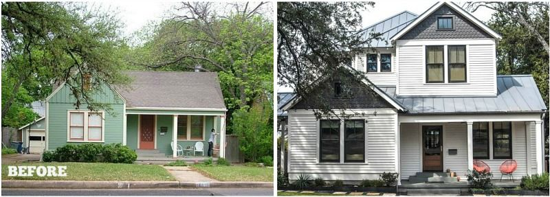 Before After Hooked On Houses Home Exterior Makeover Second Story Addition House Exterior
