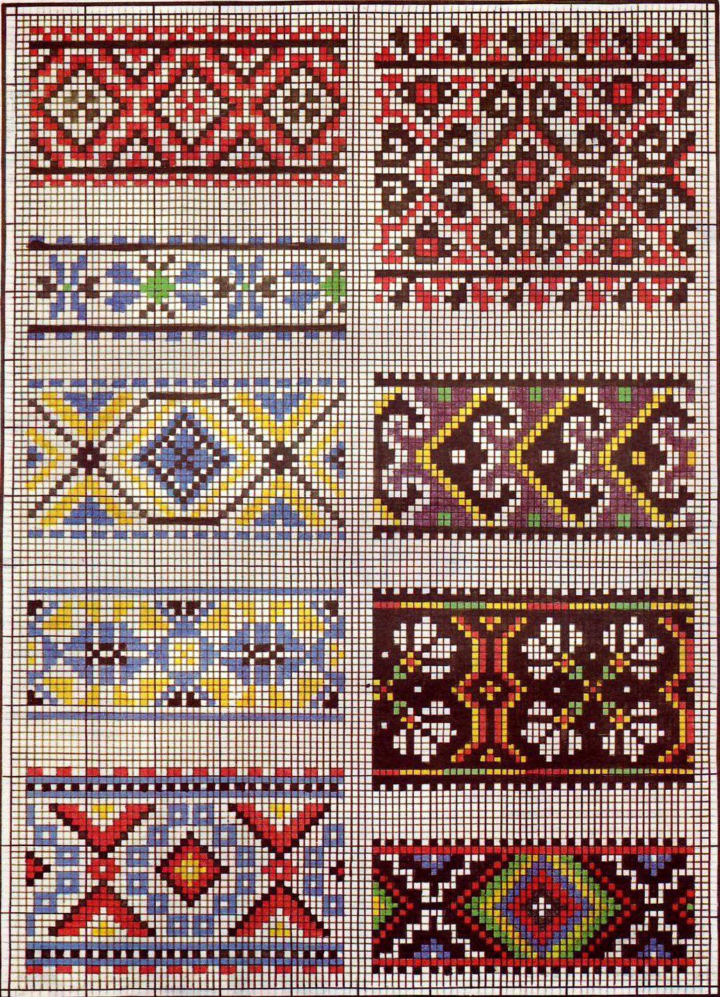 орнаменти Knitting Charts Cross Stitch Patterns Cross Stitch