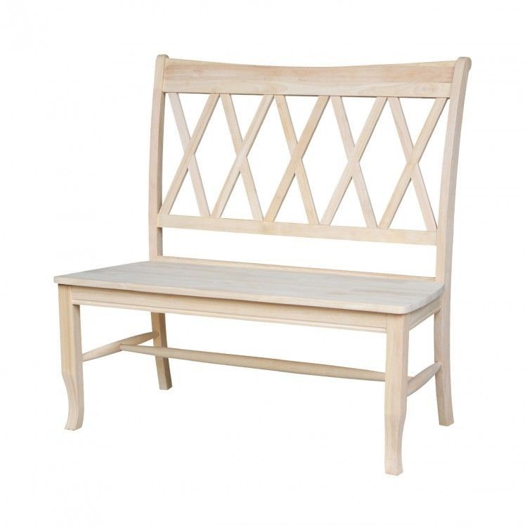 Wooden Cross Back Bench Kitchen Room Seats Indoor Settle Modern Chair Furniture 275 00end Date Ebay S Home Garden