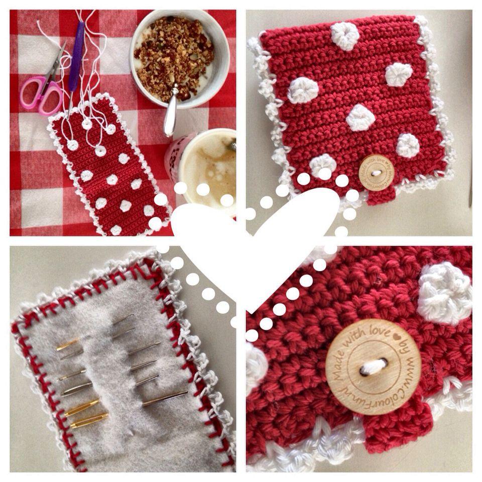 Mapje voor mijn naalden gehaakt #crochet #haken #colourfun