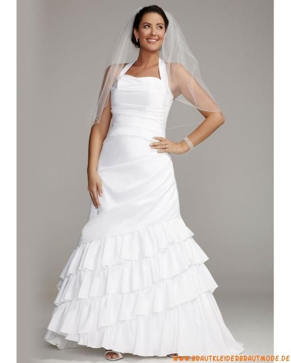 Elegante türkische Brautmode aus Taft A-Linie mit Schleppe ...