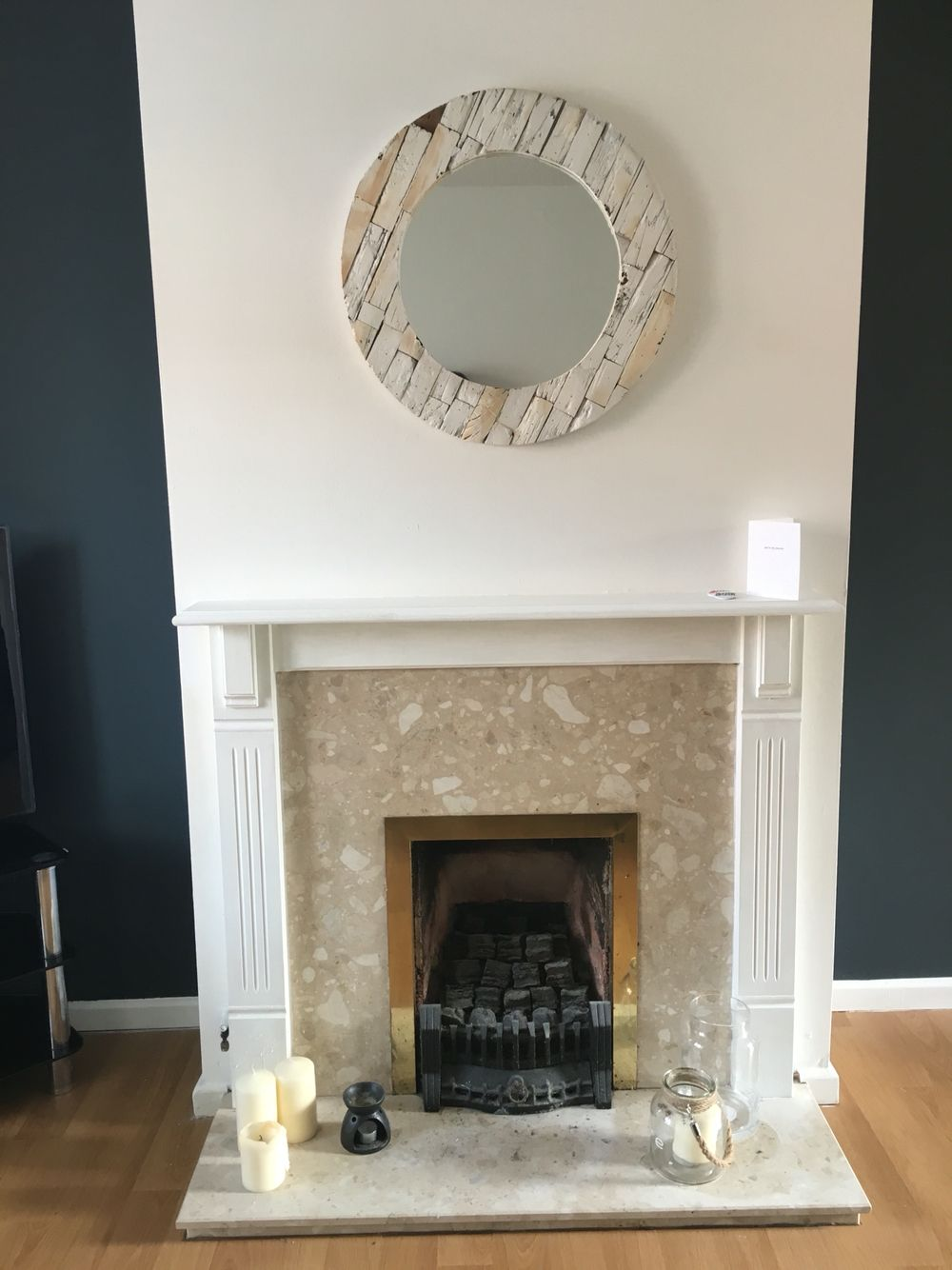 Marble fireplace in need of a makeover! Fireplace