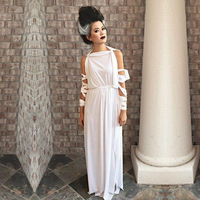 .: She's ALIVE! Bride of Frankenstein easy diy costume.
