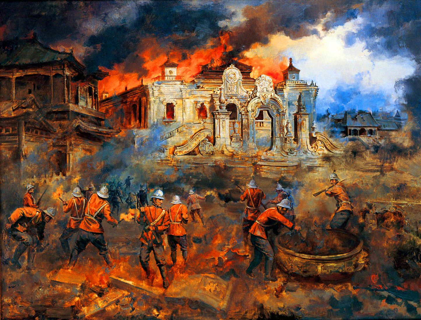British Troops Looting The Yuanmingyuan Summer Palace