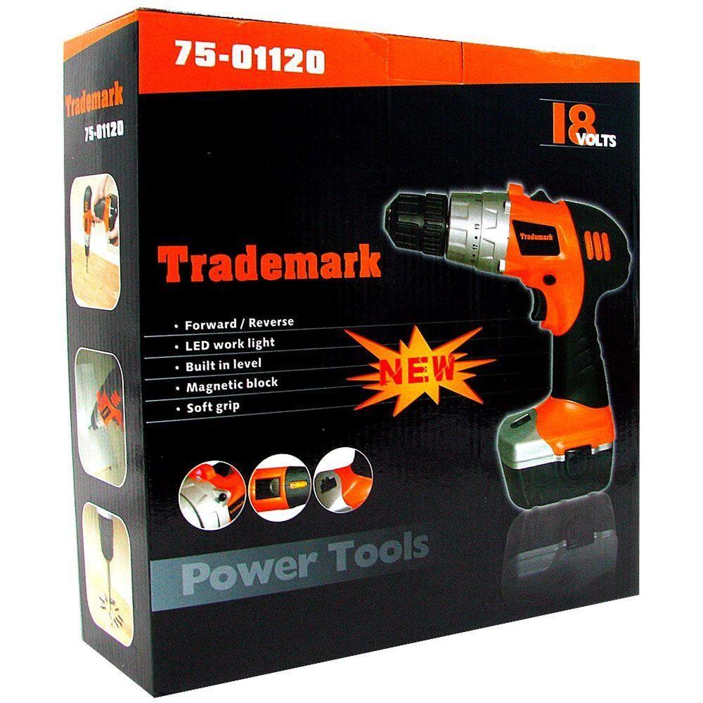 Stalwart 18v Cordless Drill W Led Light And Extras Model 75 01120 Stalwart 18v Cordless Drill