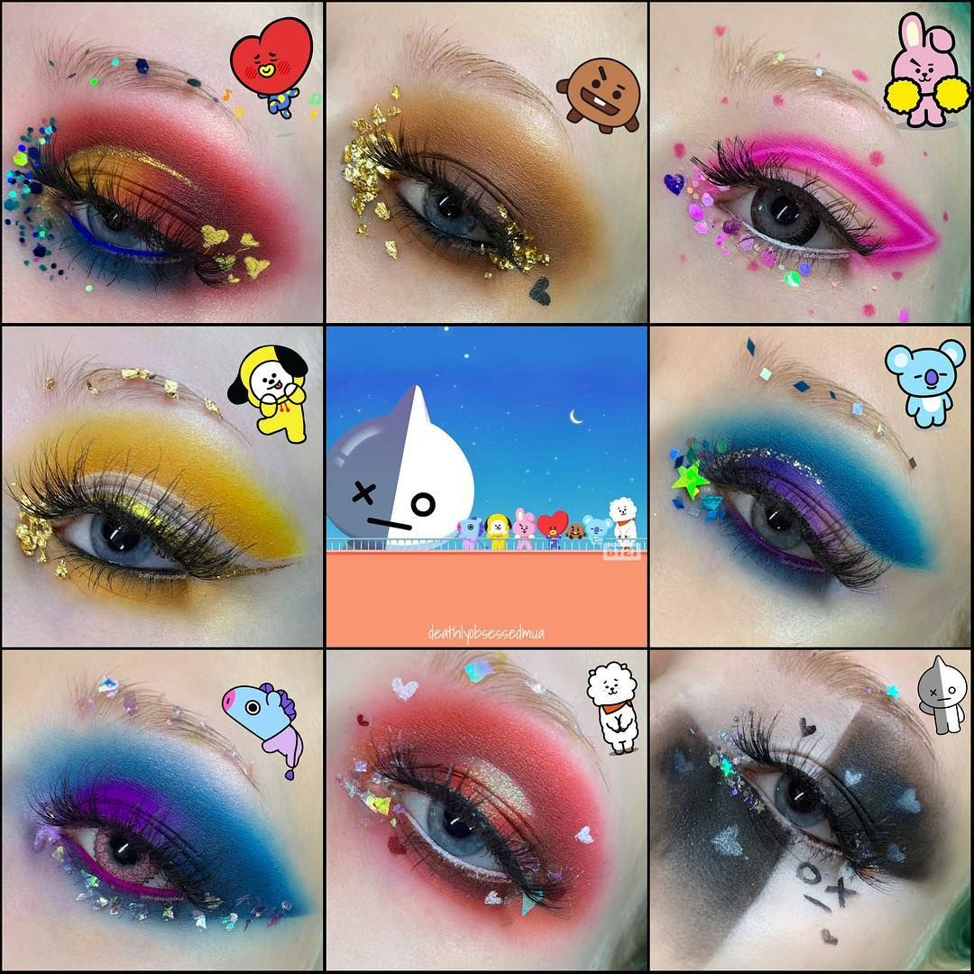 Here Is The Completed Bt21 Inspired Makeup Which One Is Your