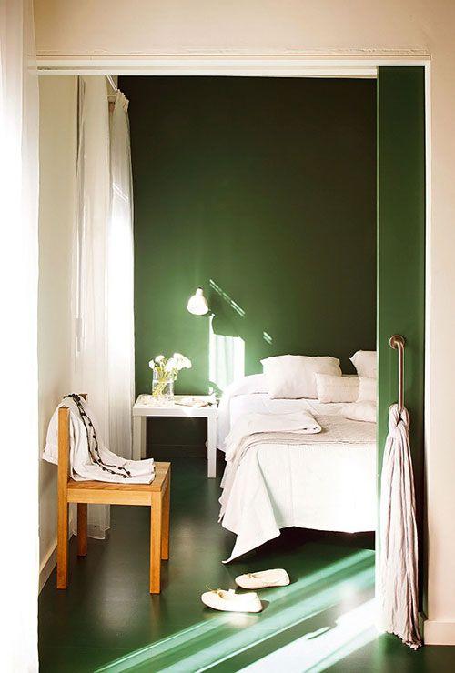 Groene slaapkamer inspiratie in Barcelona | Interieur | Pinterest ...
