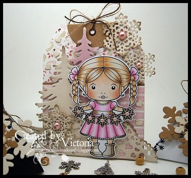 Snowflake Garland Marci ~ La-La Land Crafts