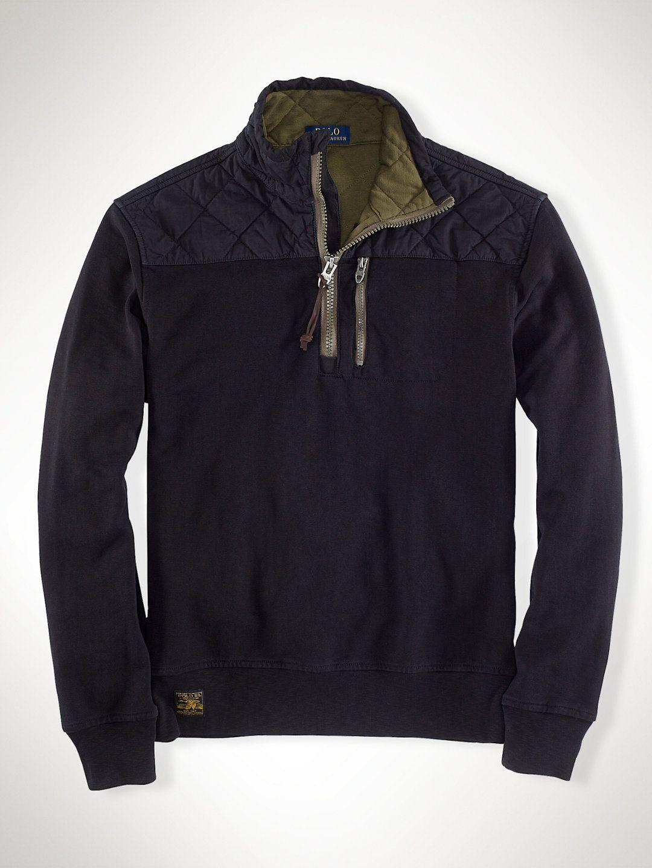 French Terry Half-Zip Pullover - Hoodies & Sweatshirts Men - Ralph Lauren UK
