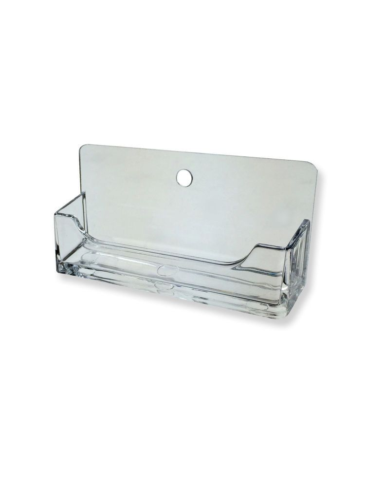 Single Pocket Horizontal Wall Mount Business Card Holder display ...