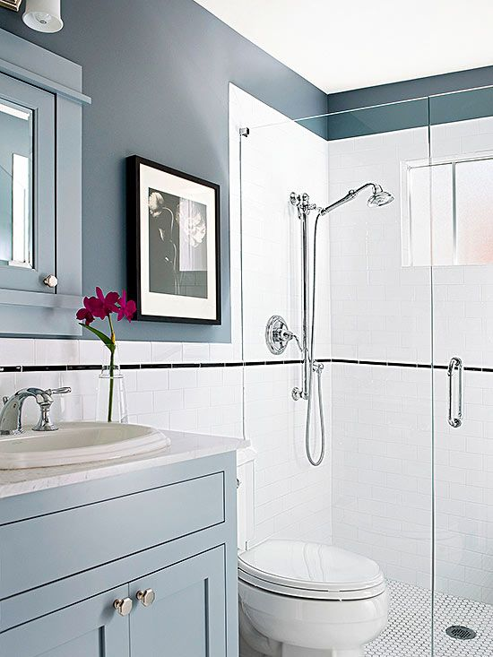 LowCost Bathroom Updates Glamorous Bathroom White Tiles And Gray - Low cost bathrooms