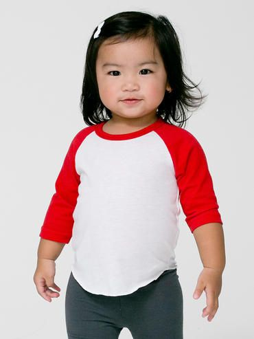c723ce762f BB053 American Apparel Infant Poly-Cotton 3 4 Sleeve Raglan
