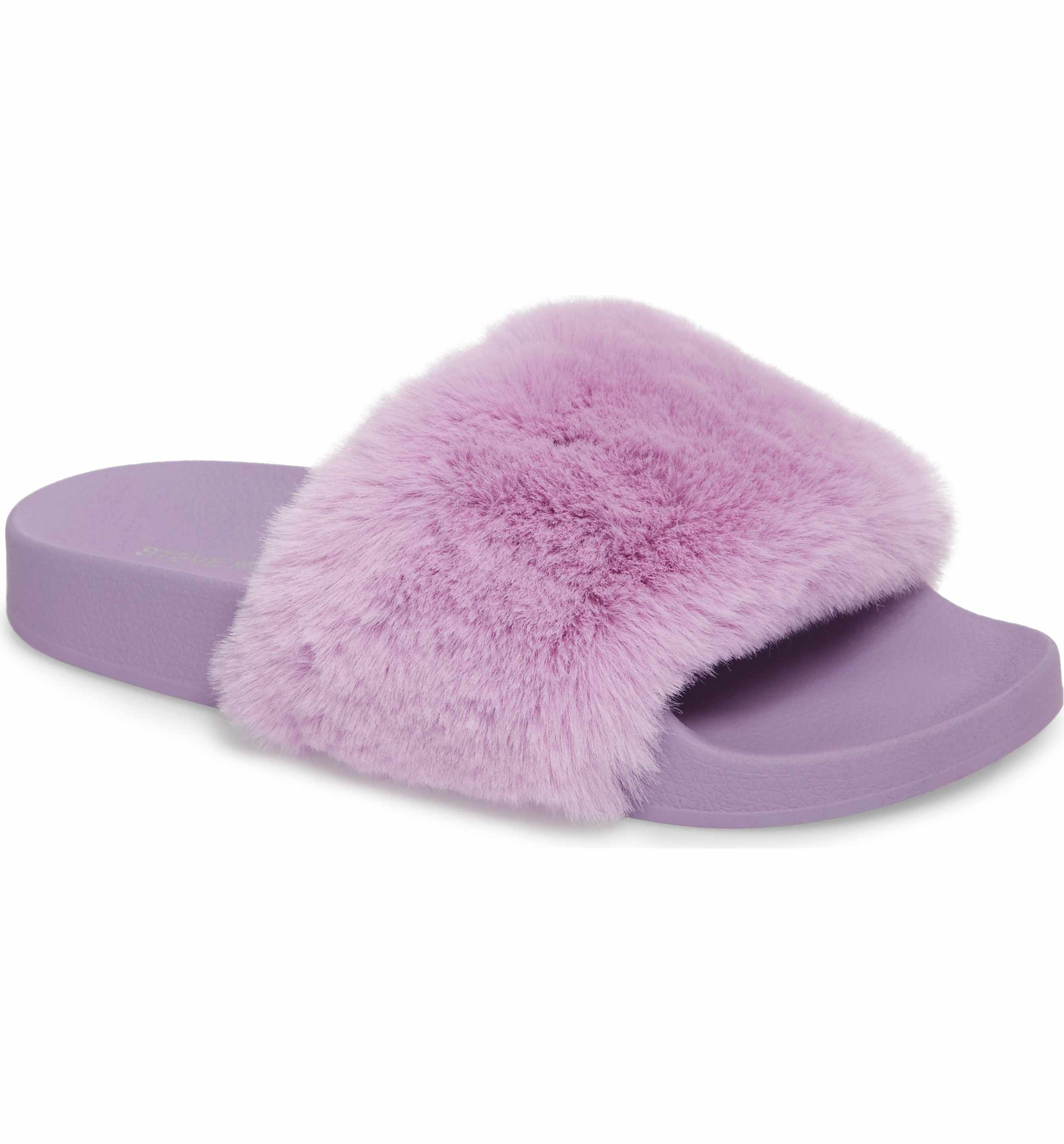 d72715b63b3 Main Image - Steve Madden Softey Slide (Women) | shoes | Fuzzy ...