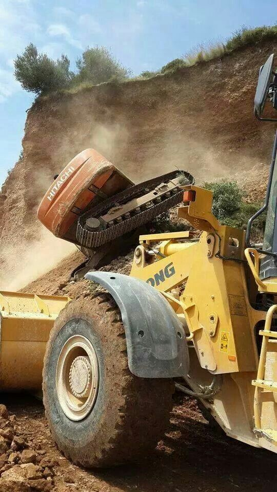 In the #shadow of a #LiuGong wheel loader LiuGong construction