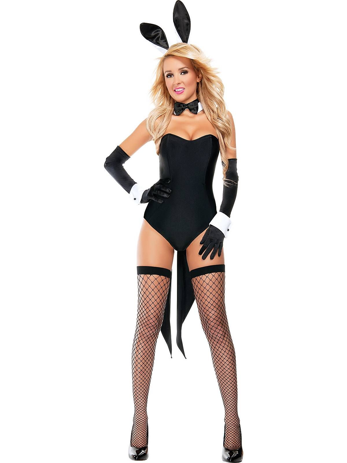 Sexy Bunny Costume in Black. Comes with ears,tail and bow tie ...