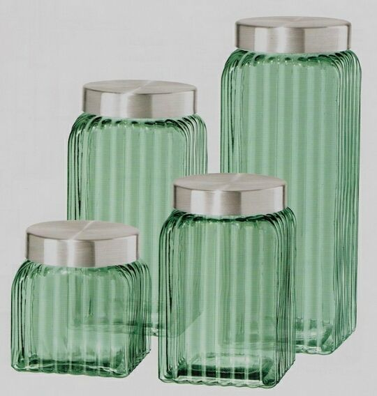 green glass canisters   glass kitchen canisters, kitchen canister sets, glass kitchen canister sets