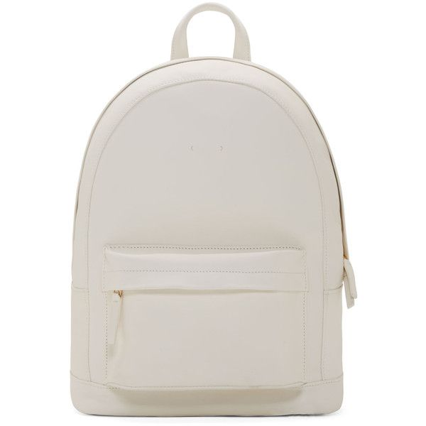Pb 0110 White Structured Leather Backpack ($280) ❤ liked on ...