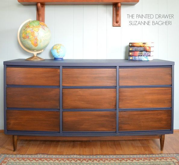 A Mid Century Modern Dresser Gets Facelift Painted Furniture Repurposing Upcycling