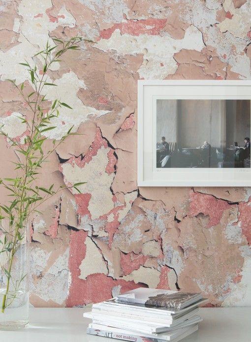 Papier peint trompe l 39 oeil effet 3d peeling paint d 39 ella doran en 2019 inspiration maison - Voir ma maison en direct ...