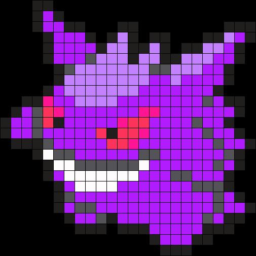 Gengar Pokemon Bead Pattern