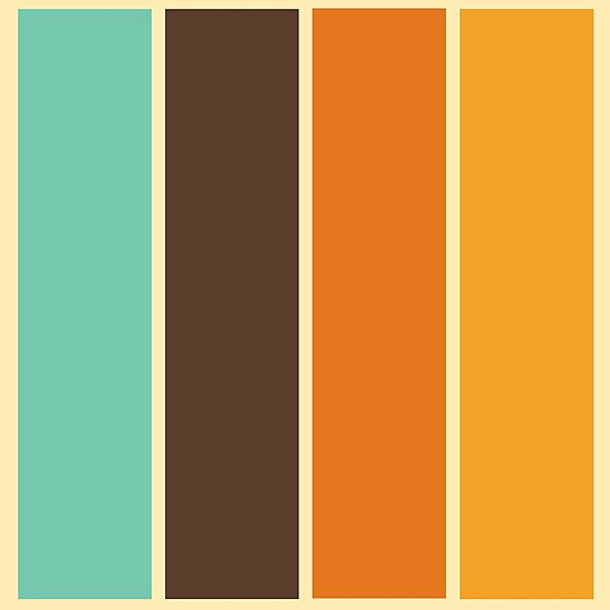 1970 S Color Palette Retro Stripe Pattern Photographic Print By Mikhail Siskoff In 2020 Vintage Colour Palette Color Palette Design Retro Color Palette