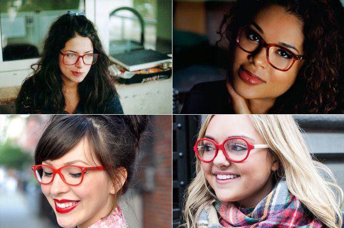ff0e281a1a8a3 Armação vermelha em óculos de grau