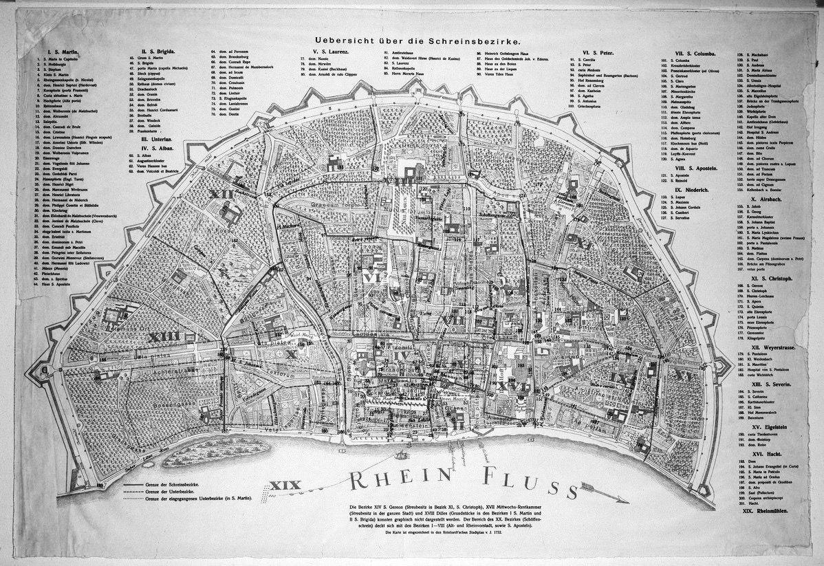 Alte Karte Koln Star Fort Stadt Koln Stadt Geschichte