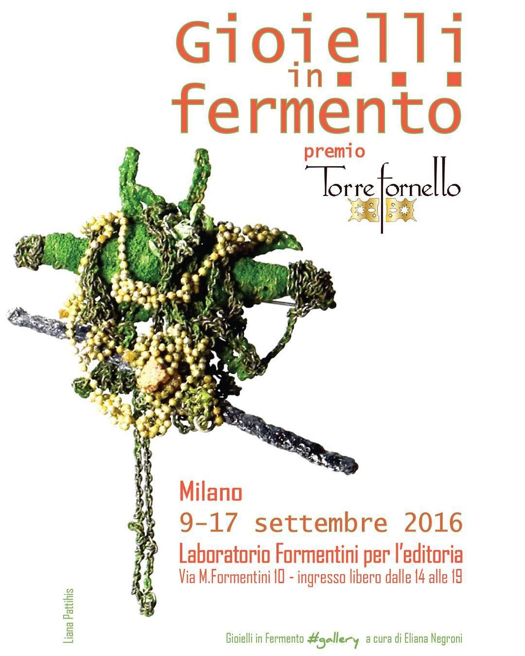 #comingsoon in #Milano #laboratorioformentini #Brera district #artjewelry exhibition and talk #savethedate Sept. 17 #ajfishere #themorningbark agc #associazionegioiellocontemporaneo @Torrefornello #premiotorrefornello #jewelleryactivist #unconventionaljewellery #wearableobject #brooch #gioielliinfermento #charonkransenarts