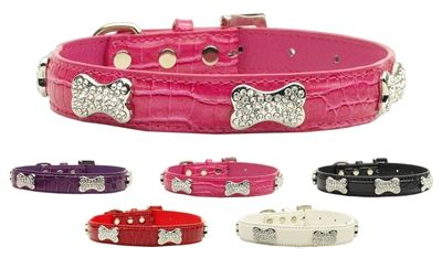 Beautiful Crystal Bone Dog Collars to support animals in need.