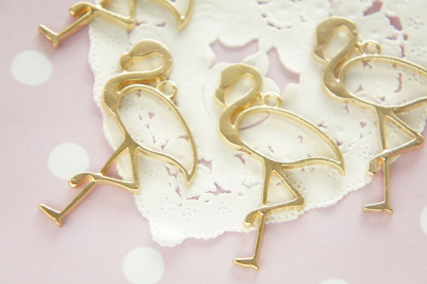 2 pcs  Open Back Bezel Charms for Resin / Flamingo (35mm50mm)  AZ377 by Candydecoholic on Etsy