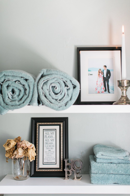 The Nichols Cottage | Bath shelf, Decor and Wedding pictures