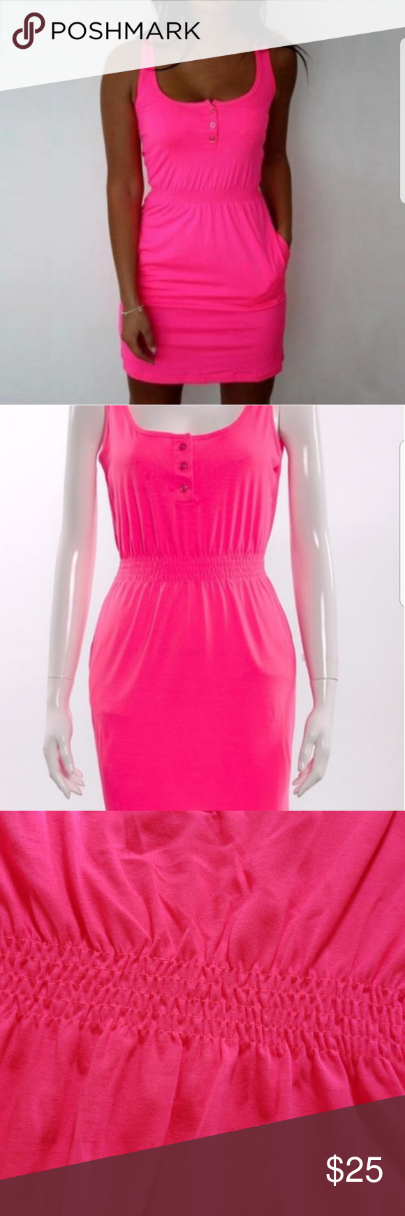Fluorescent Pink Dress This Bright Is Great For Summer Use As A Cover