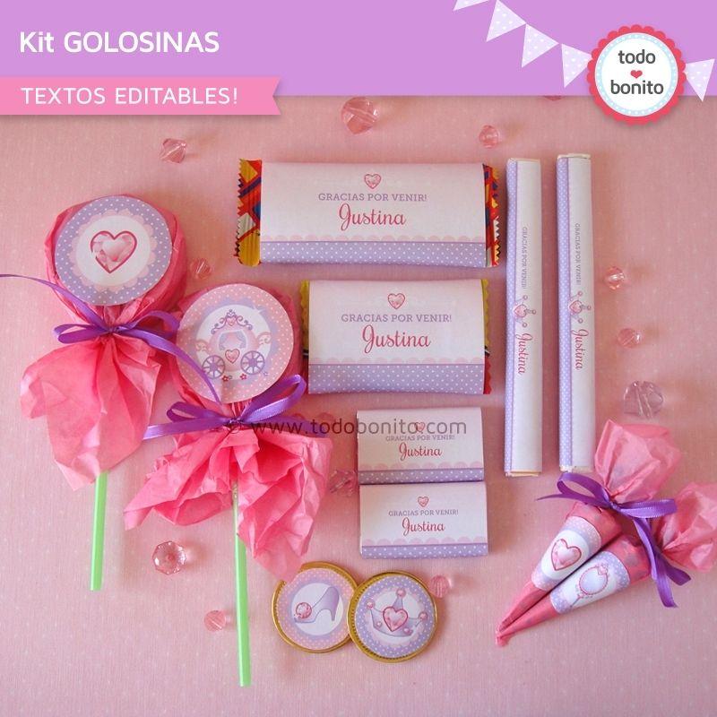 Etiquetas De Golosinas De Princesa Golosinas Para Candy Bar Artesanías De Caramelo Golosinas