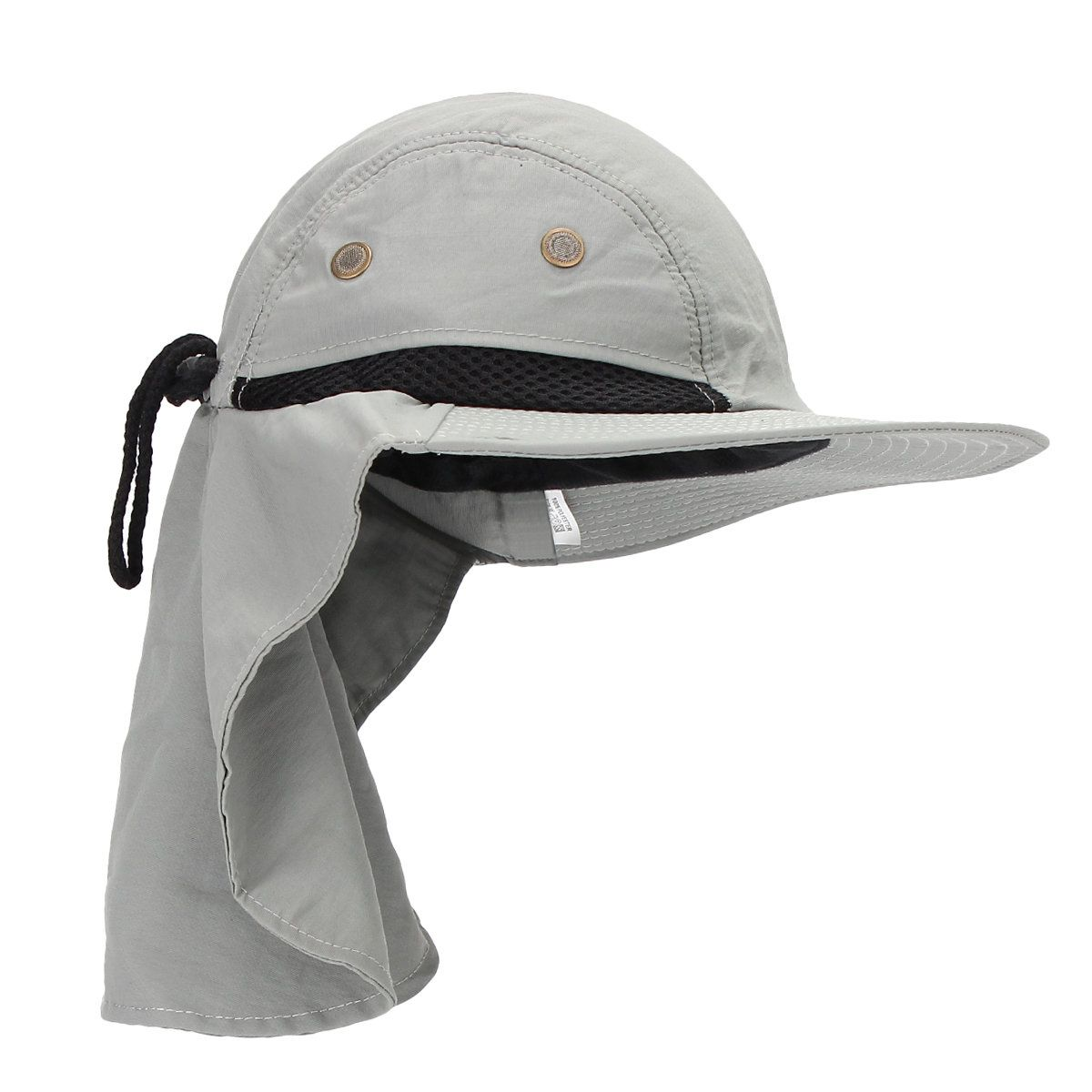 01f843c027c Men Women Boonie Snap Brim Ear Neck Cover Sun Flap Cap Hunting Fishing  Boating Hiking Hat