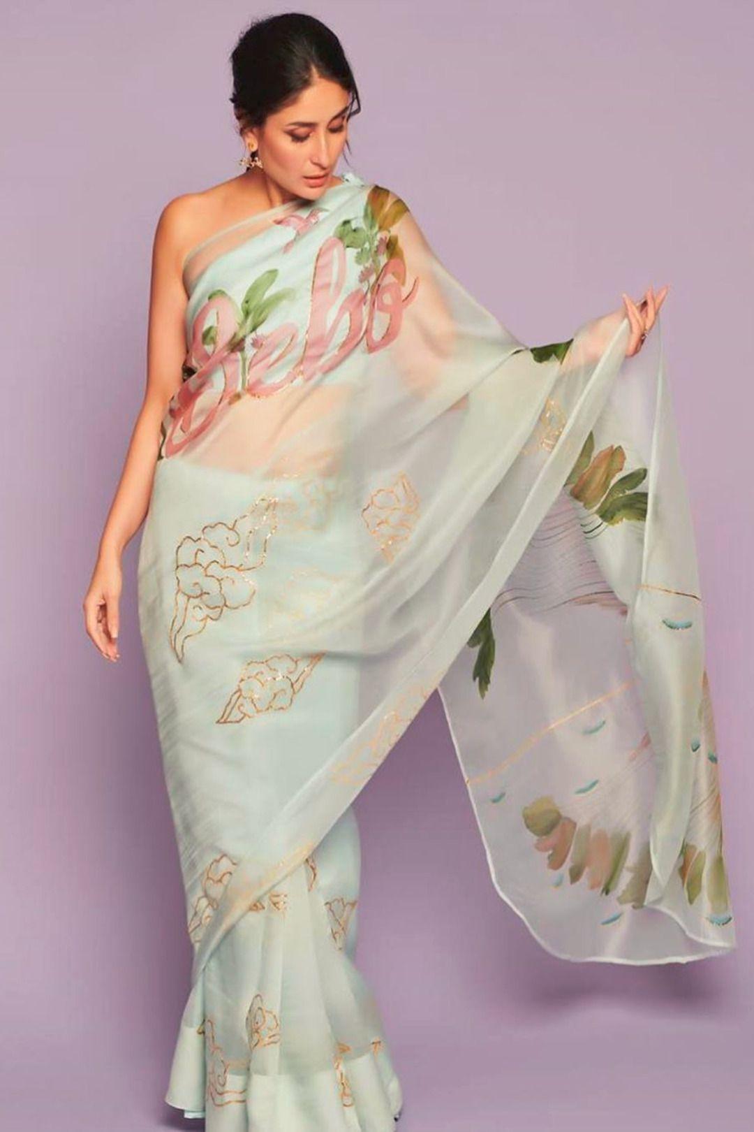 6 Celebrity Inspired Organza Outfit Ideas Saree Designs Saree Look Organza Saree