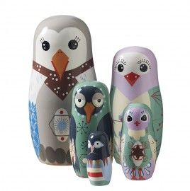 Bird family (set van 5) [SB0186] uitverkocht   Wannahaves   størblends