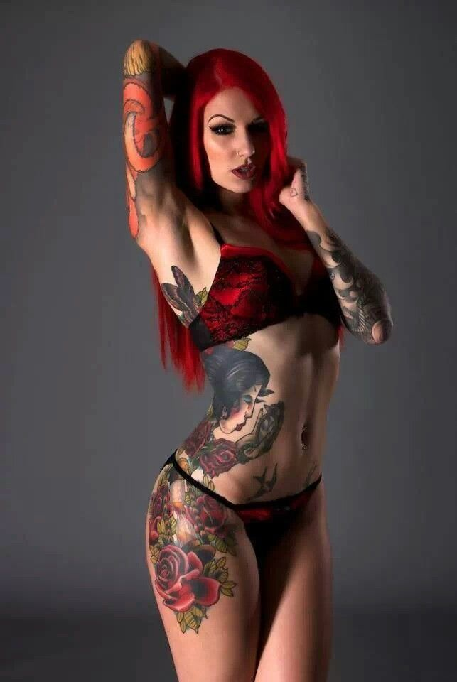 Tatted up women