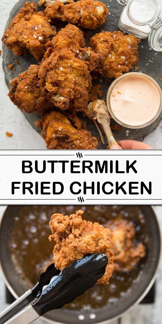 Buttermilk Fried Chicken In 2020 Buttermilk Fried Chicken Chicken Dinner Recipes Quick Chicken Recipes
