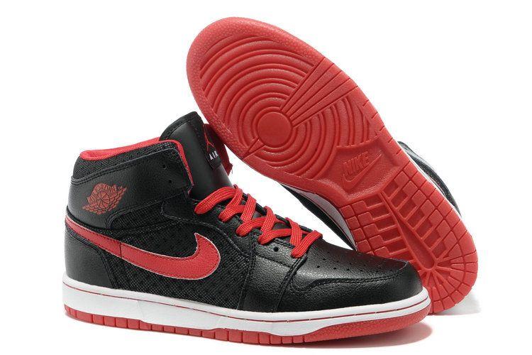 d7d49e68b95f Jordan 1 black red basketball shoes men  80.52
