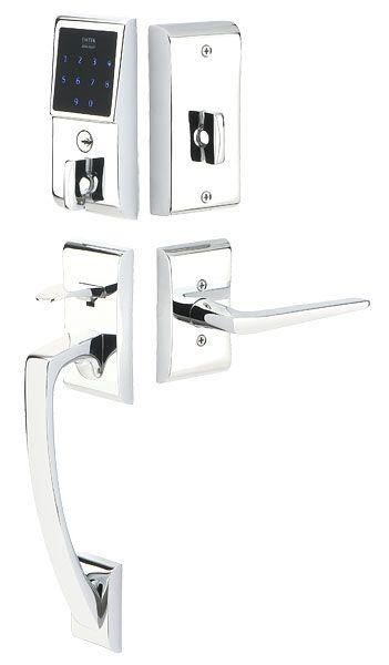 Emtek illuminated keypads allow you to easily enter your home at ...