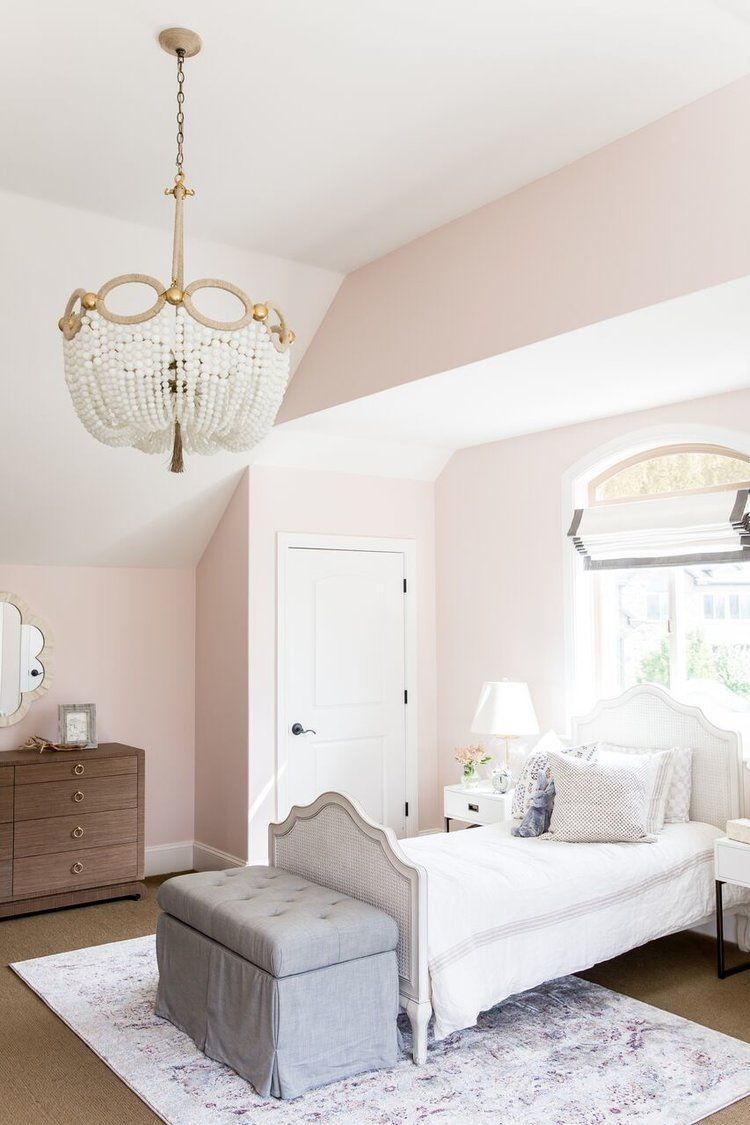 Little S Room Foothill Drive Project Studio Mcgee Light Pink Paint Blush