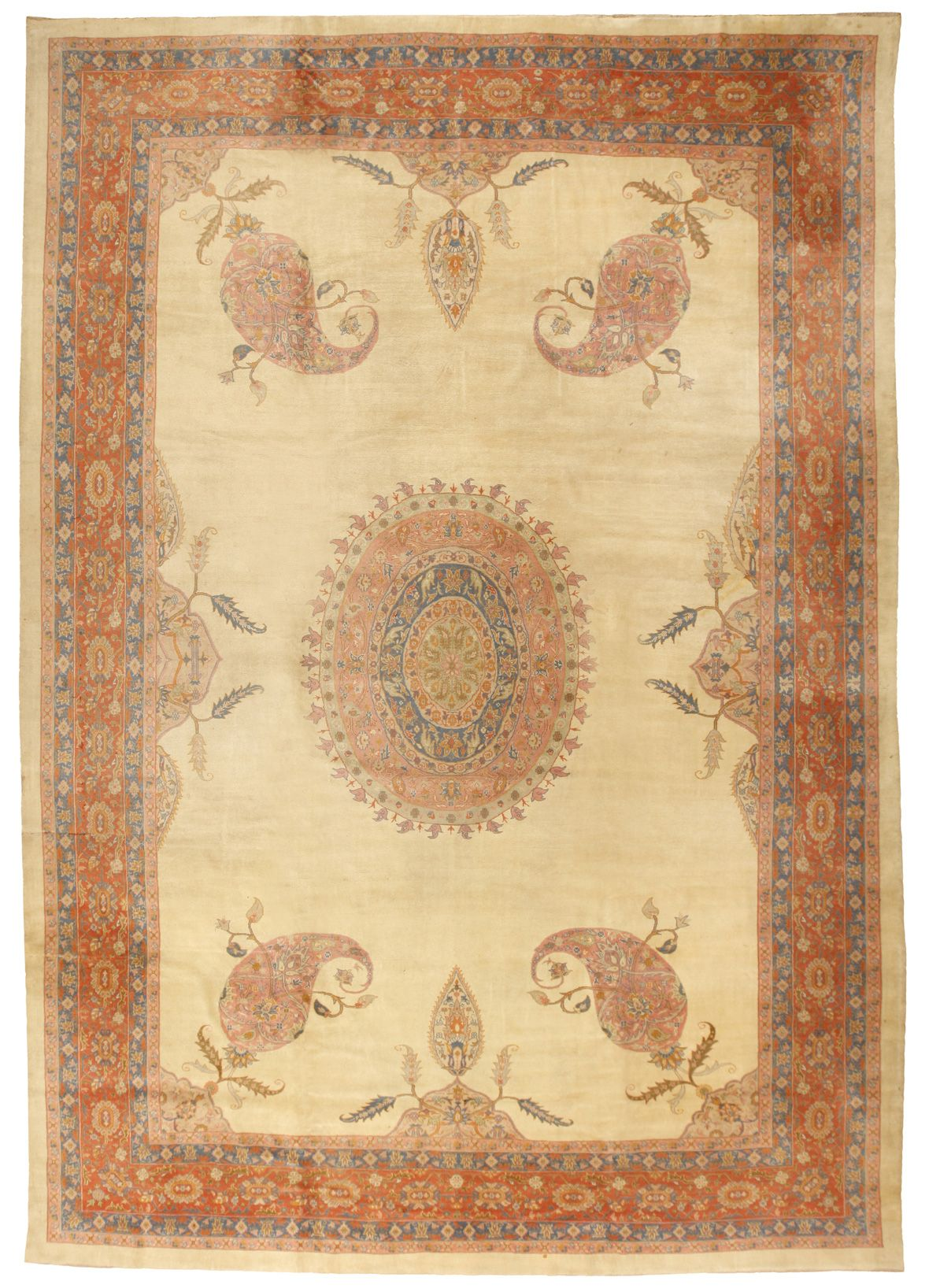 Antique Borlu Carpet 11.9 X 16.8 - Fred Moheban Gallery
