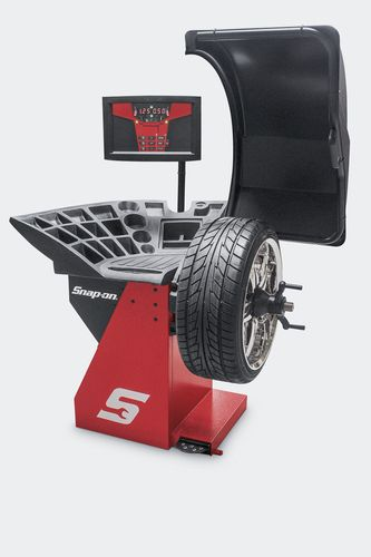 Wheel Balancer With Raised Display Motorized Snaps Motor Configuration