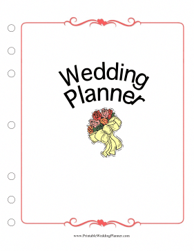 this wedding planner cover page puts a pretty face on your wedding