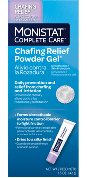 Monistat Complete Care Chafing Relief Powder Gel Chafing Relief